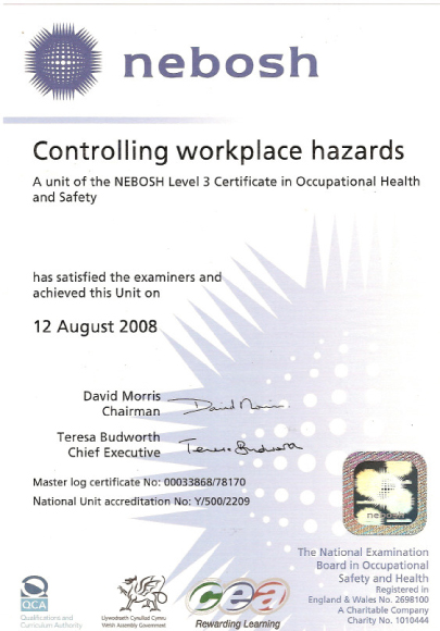Controlling Workplace Hazards