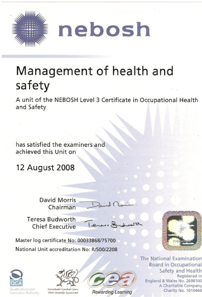 Management Of Health & Safety