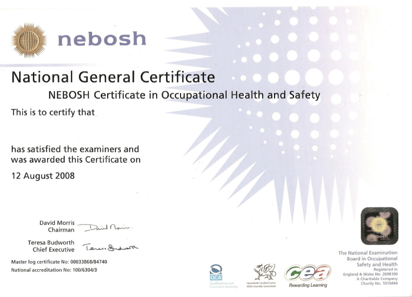 Occupational Health & Safety -  Level 3