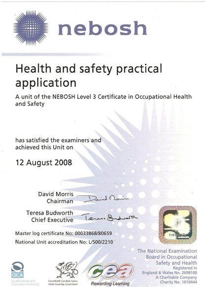 Health & Safety Practival Application